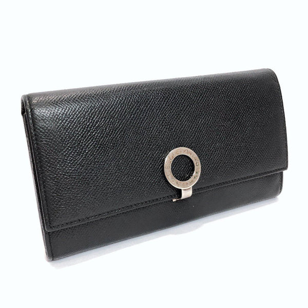 BVLGARI purse 30414 Bulgari Bulgari leather black Women Used