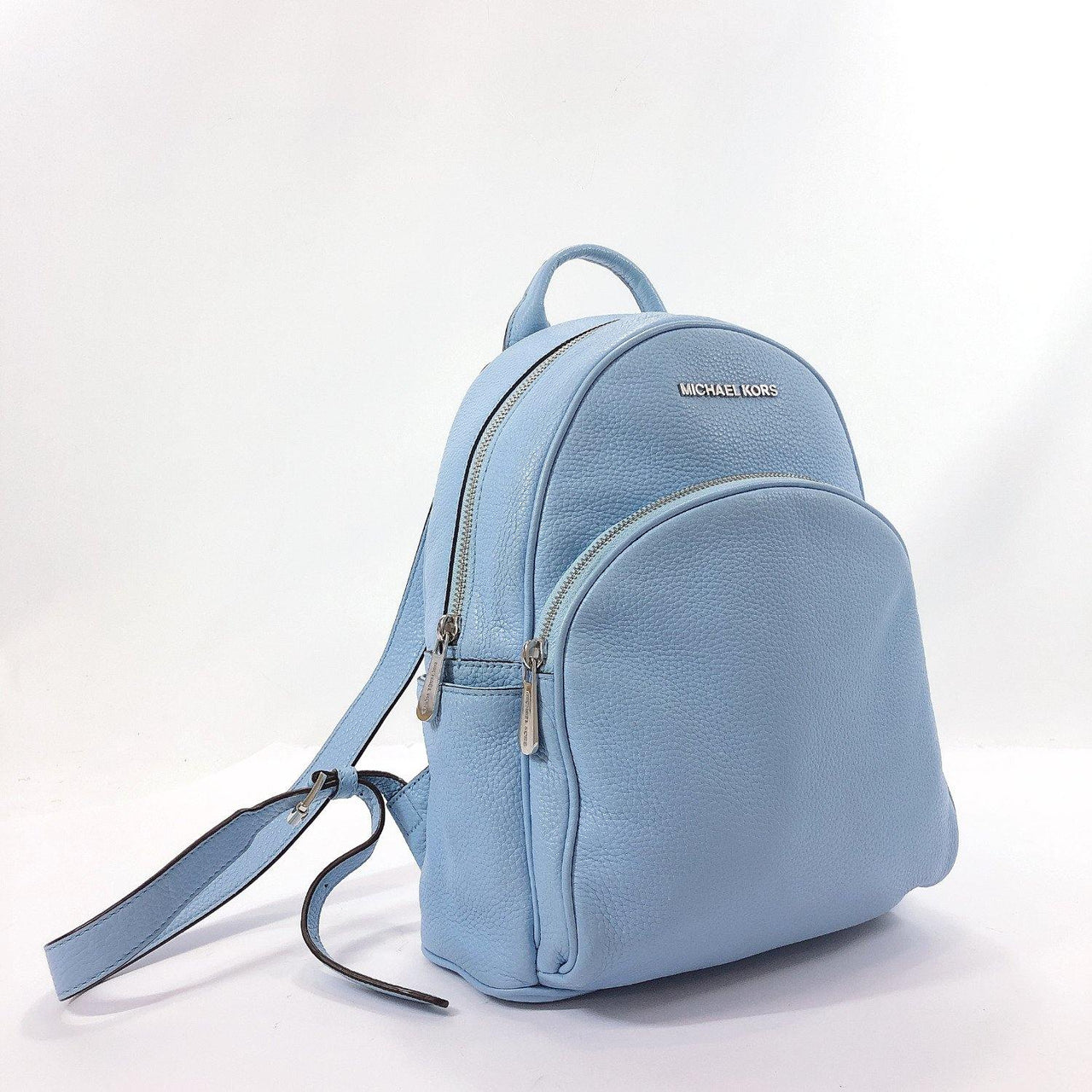 Michael Kors Backpack Daypack 35S7SAYB1L Abbey leather blue Women Used - JP-BRANDS.com