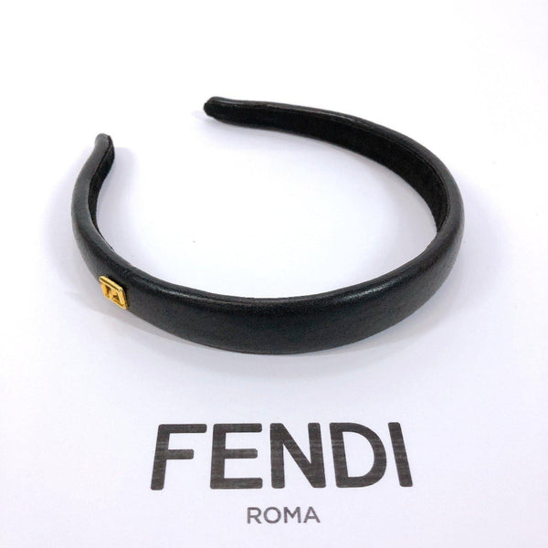 FENDI Katyusha leather black Gold Hardware Women Used