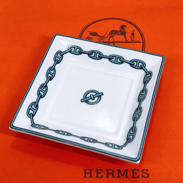 HERMES Other miscellaneous goods ashtray Chéne Dunkel Pottery white unisex Used - JP-BRANDS.com