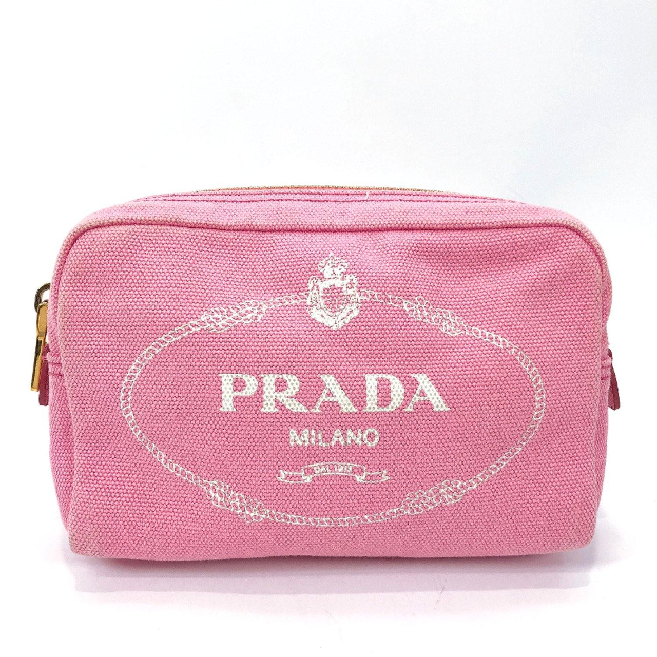 PRADA Pouch canvas pink Women Used - JP-BRANDS.com