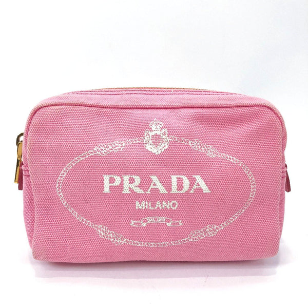 PRADA Pouch canvas pink Women Used