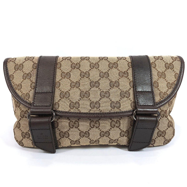 GUCCI Waist bag 145851 bam bag GG canvas Brown mens Used - JP-BRANDS.com