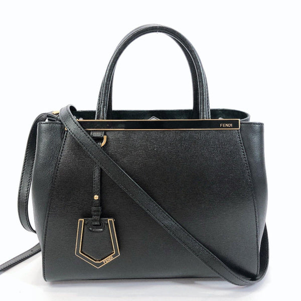 FENDI Handbag 8BH253-D7E Petite to Jules leather black Women Used
