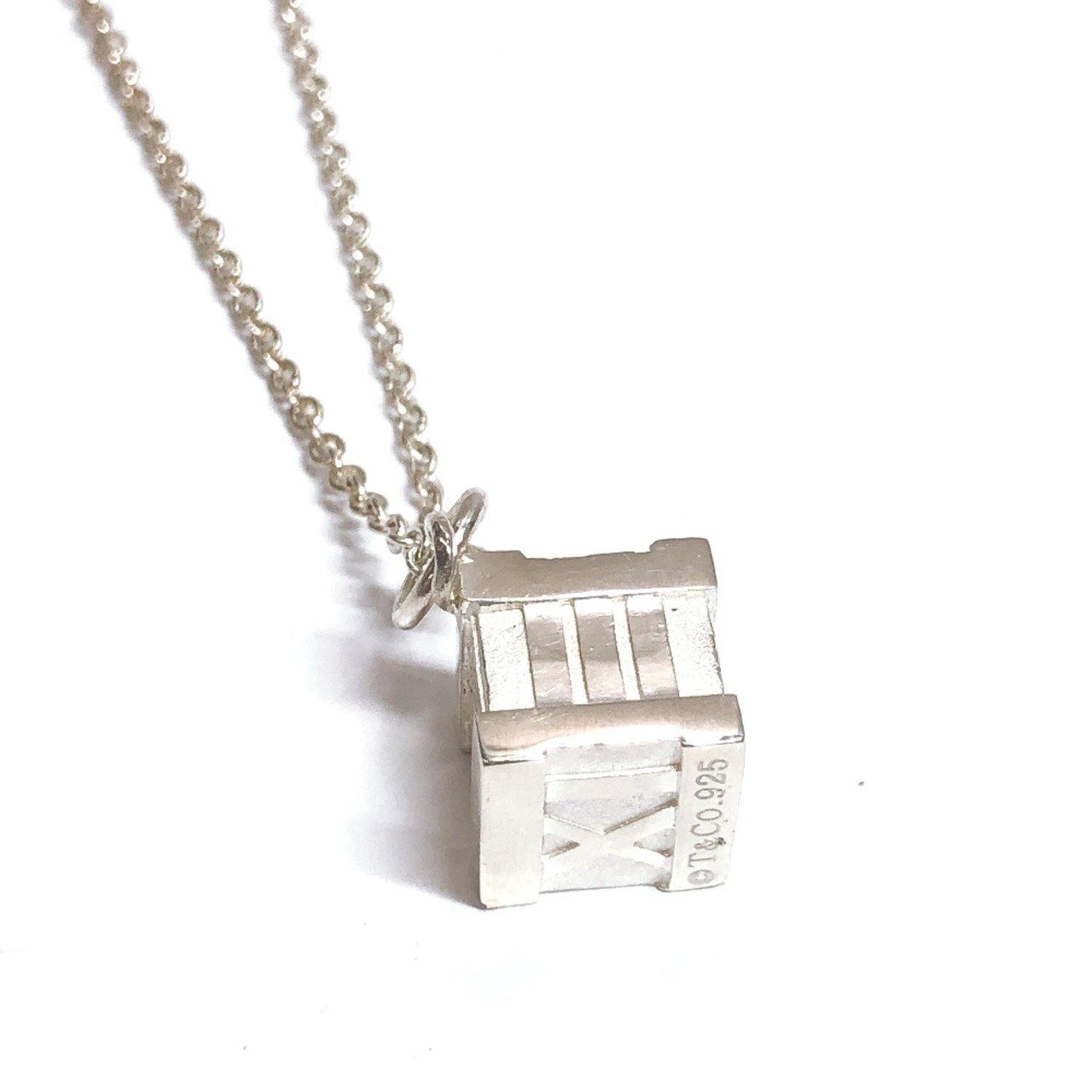 TIFFANY&Co. Necklace Atlas cube Silver925 Silver Women Used - JP-BRANDS.com
