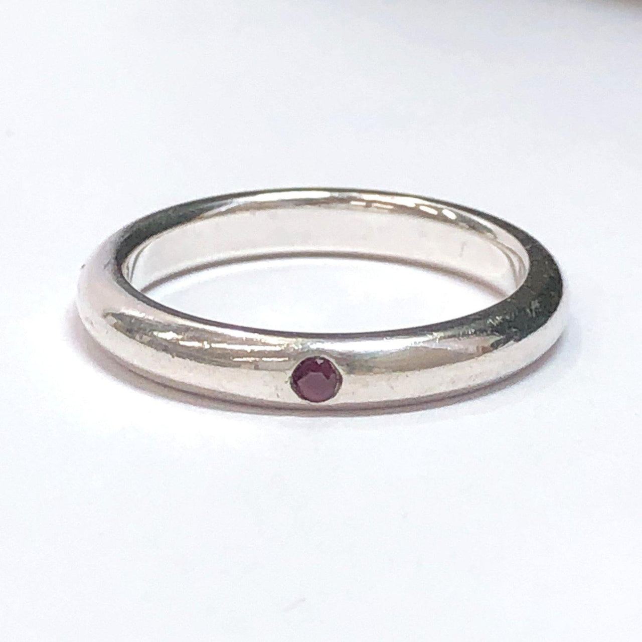 TIFFANY&Co. Ring El Saperetti Stacking band Silver925/Ruby C Silver Women Used - JP-BRANDS.com