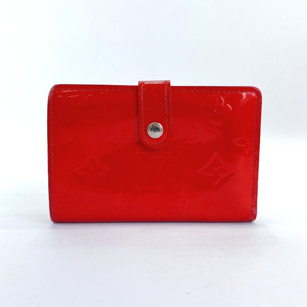 LOUIS VUITTON wallet M90182 Portefeiulle Vienova purse with a clasp Monogram Vernis Red Women Used