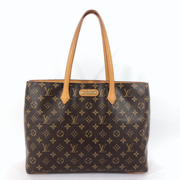 LOUIS VUITTON Tote Bag M45644 Wilshire MM Monogram canvas Brown Women Used