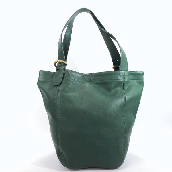 COACH Tote Bag 336 Old coach Grain leather green mens Used
