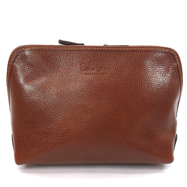 COLE HAAN Pouch leather Brown Women Used