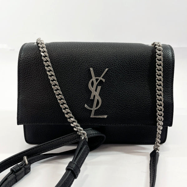 SAINT LAURENT PARIS Shoulder Bag 515822  Chain bag leather Black Silver Women Used