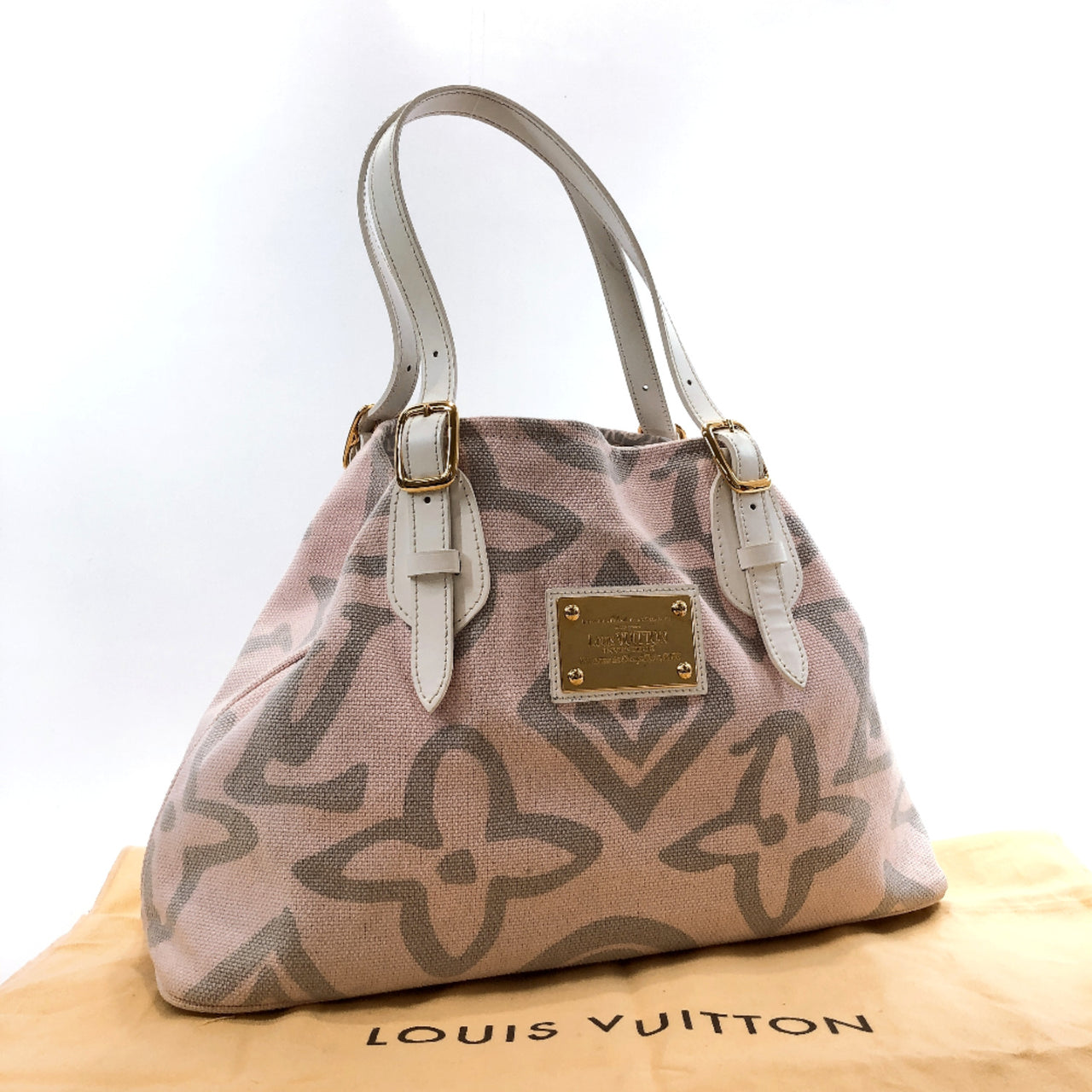 LOUIS VUITTON Tote Bag M95672 Taicienne PM canvas pink Women Used