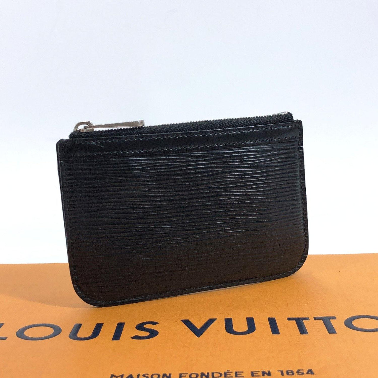 LOUIS VUITTON coin purse M66602 Pochette cree Epi Leather black unisex Used - JP-BRANDS.com
