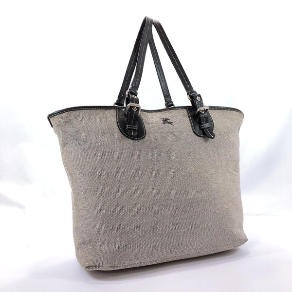 BURBERRY Tote Bag canvas/leather gray Women Used