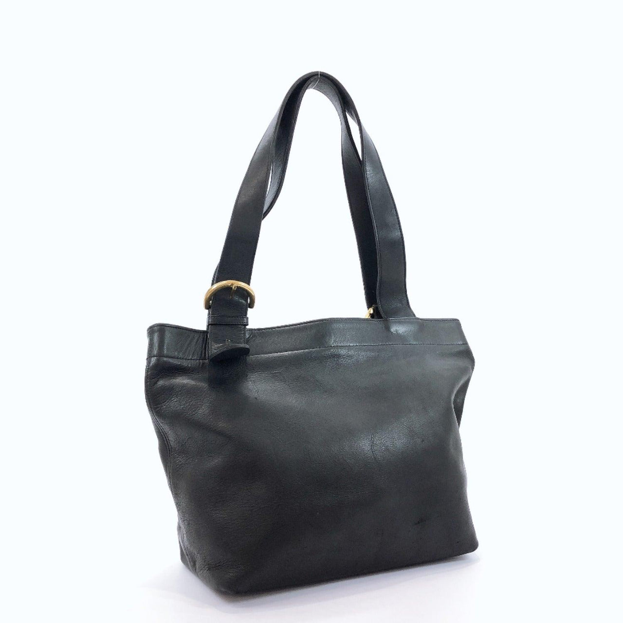 COACH Tote Bag Old coach leather black Women Used