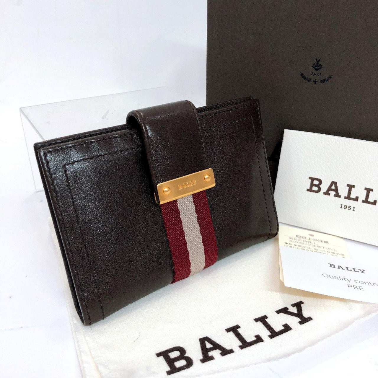BALLY Card Case leather Brown unisex Used - JP-BRANDS.com