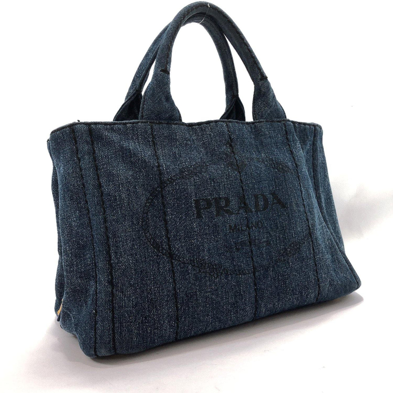 PRADA Tote Bag Canapa mini denim Denim blue Women Used - JP-BRANDS.com