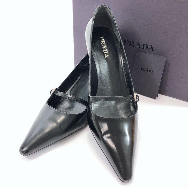 PRADA pumps Patent leather black Women Used