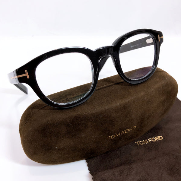 TOM FORD Glasses TF5148 Synthetic resin black mens Used