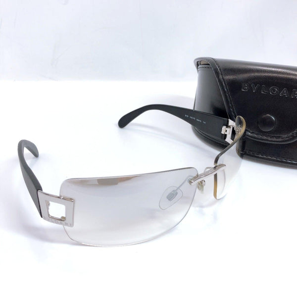 BVLGARI sunglasses Synthetic resin black mens Used