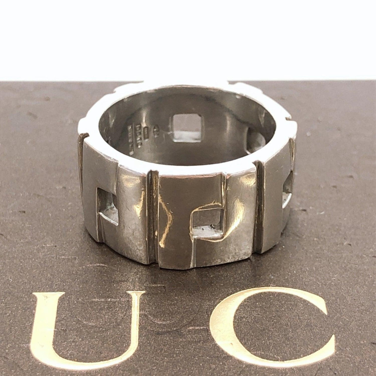 GUCCI Ring 570PL G ring Silver925 over 20 Silver mens Used