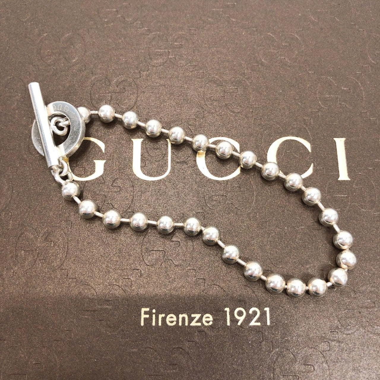 GUCCI Ble Rubbed T 1697AR Ball chain Silver925 Silver unisex Used