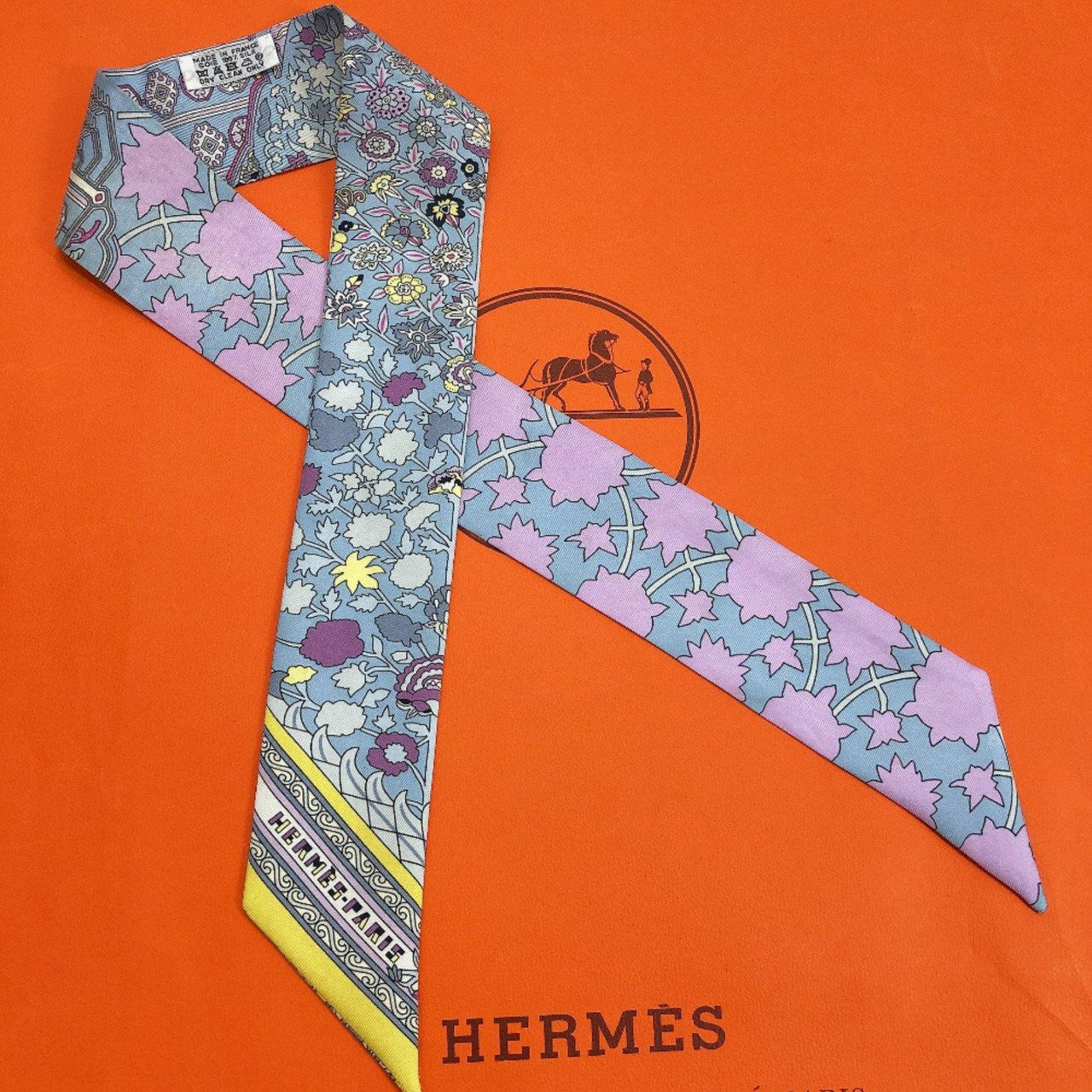 HERMES scarf Twilly silk blue pink Women Used - JP-BRANDS.com