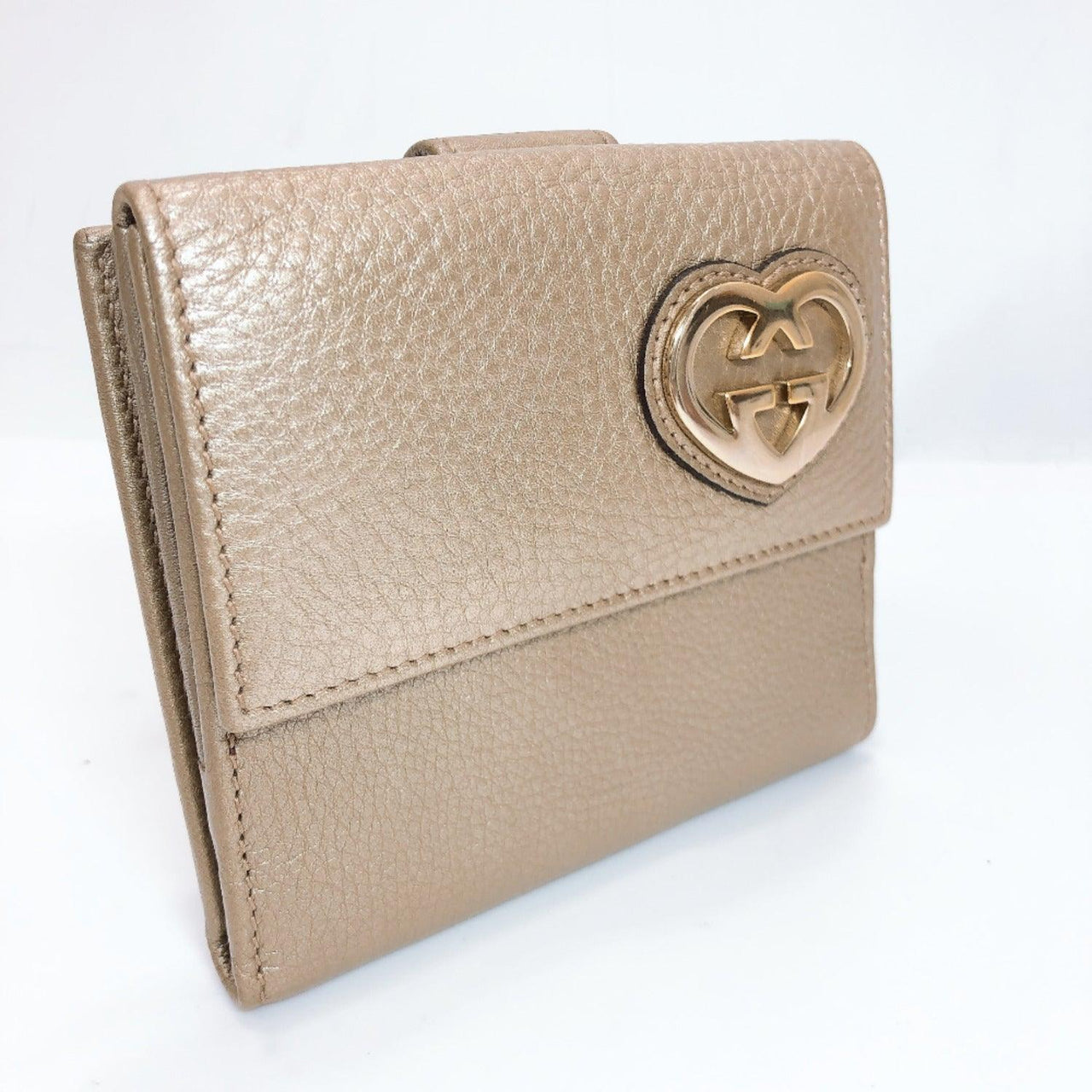 GUCCI wallet 245727 leather gold Women Used