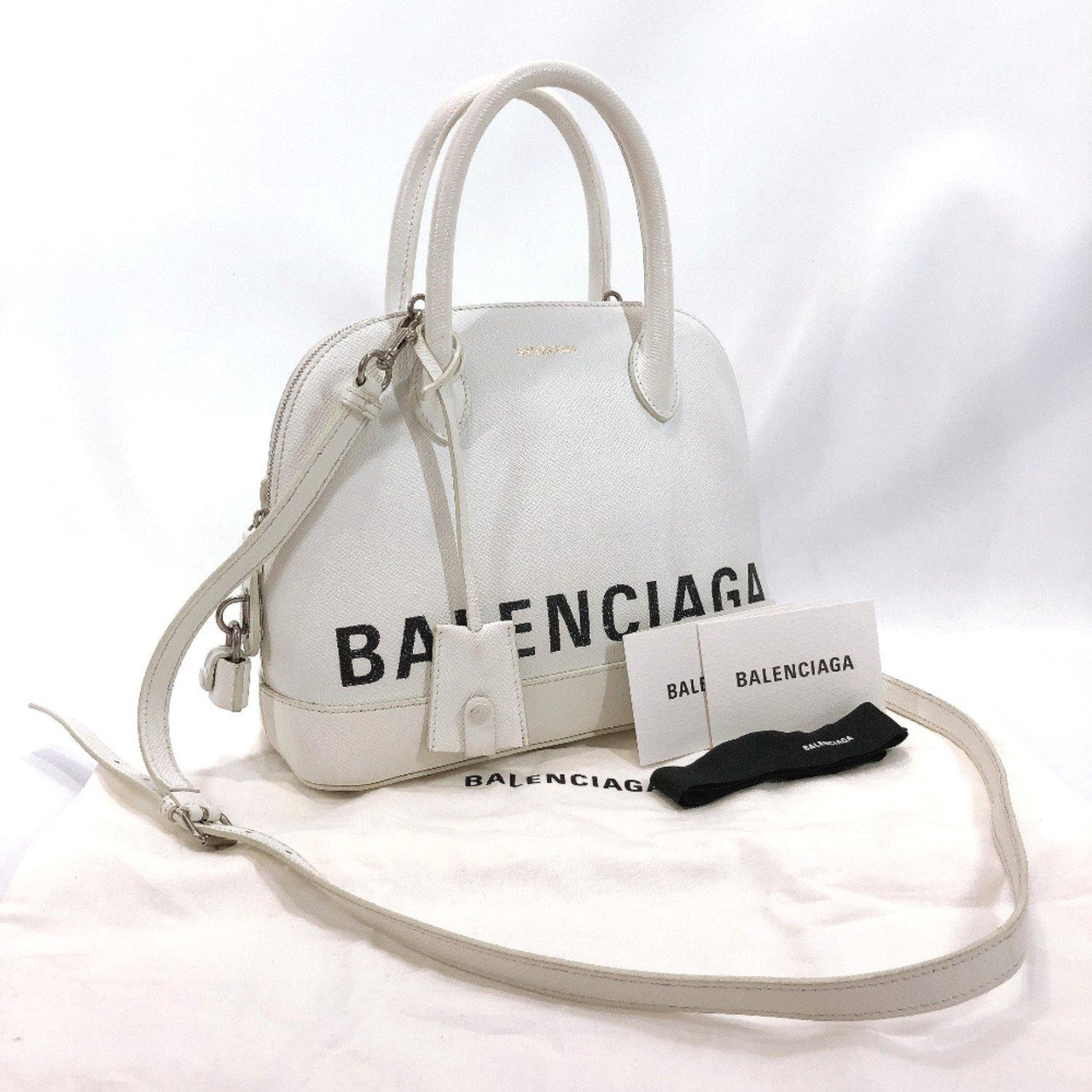 BALENCIAGA Shoulder Bag 518873 Bill Top Handle S leather white Women Used - JP-BRANDS.com
