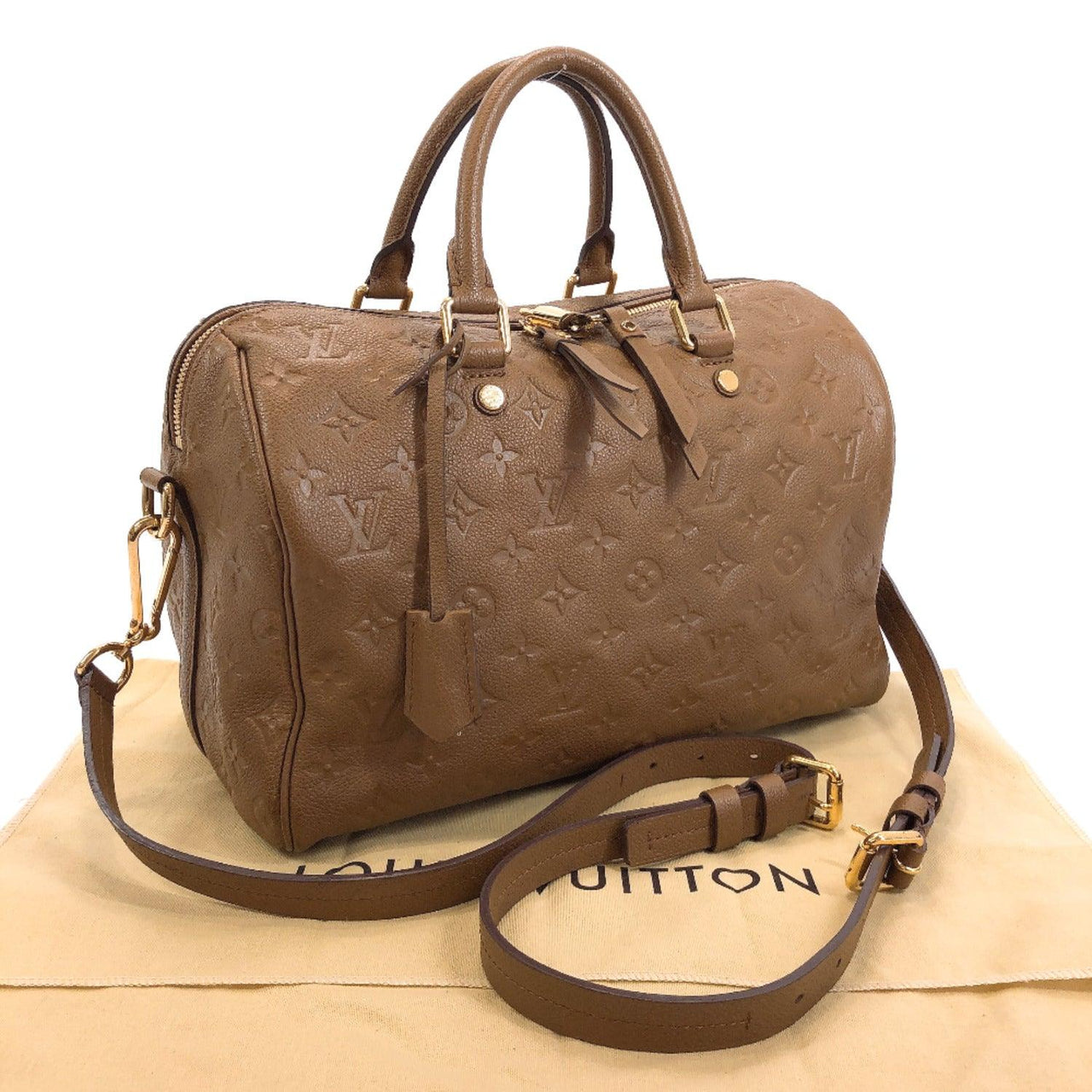 LOUIS VUITTON Handbag M40900 Speedy 30 Bandriere Monogram unplant Brown Women Used