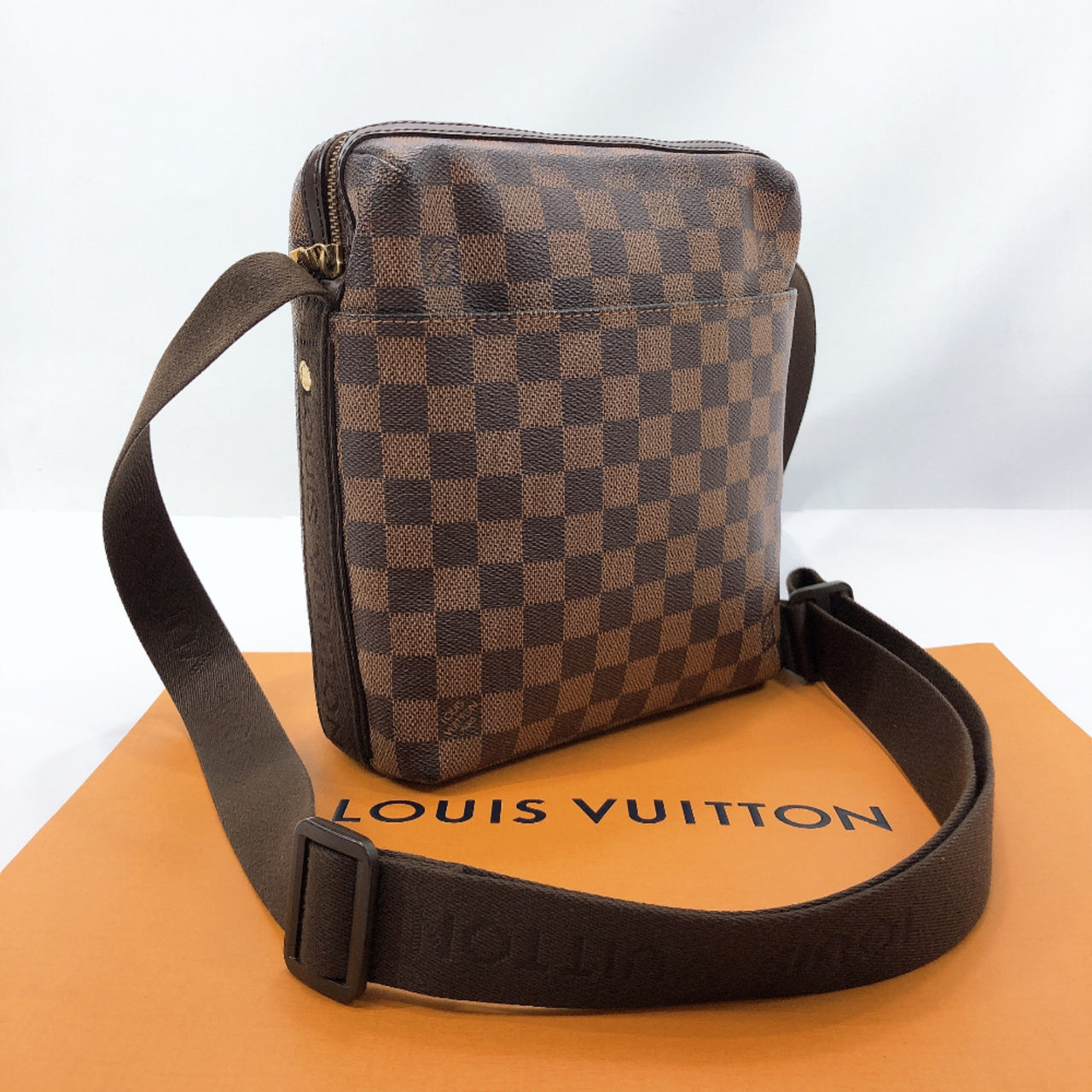 LOUIS VUITTON Shoulder Bag N41135 Trotter Bobul Damier canvas Brown unisex Used