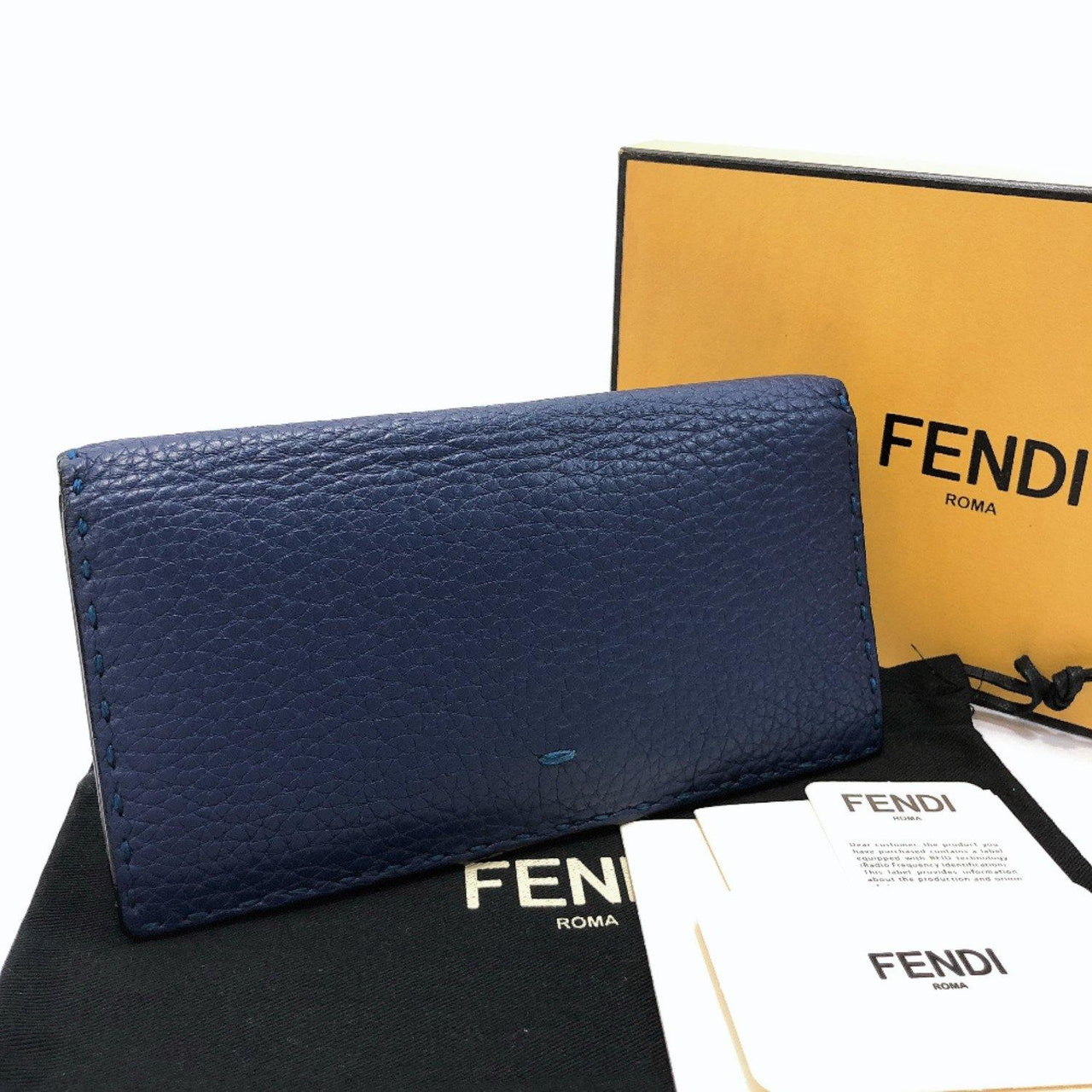 FENDI purse 7M0186 Celeria leather Navy mens Used - JP-BRANDS.com
