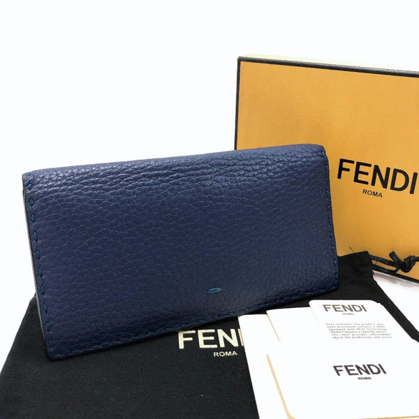 FENDI purse 7M0186 Celeria leather Navy mens Used