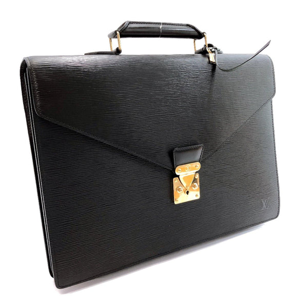 LOUIS VUITTON Briefcase M54422 Serviet Conseiller Epi Leather black mens Used