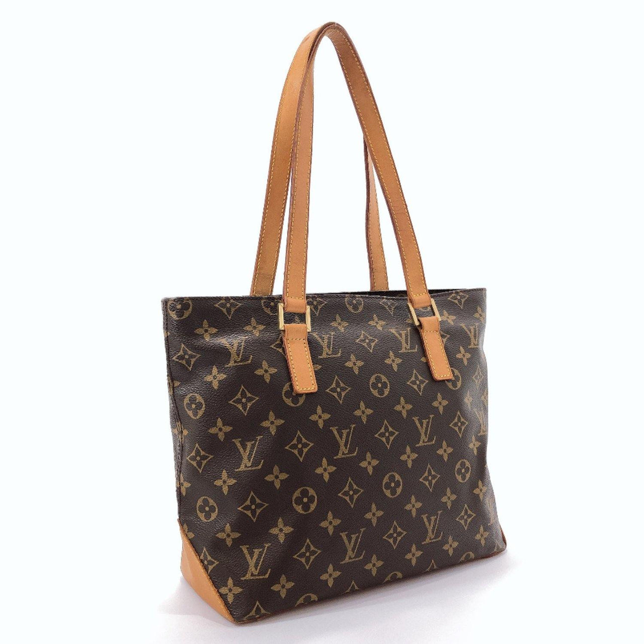 LOUIS VUITTON Handbag M51148 Cabas piano Monogram canvas Brown Women Used - JP-BRANDS.com