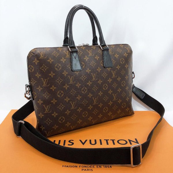 LOUIS VUITTON Business bag M40868 PDJ Monogram macacer Brown mens Used