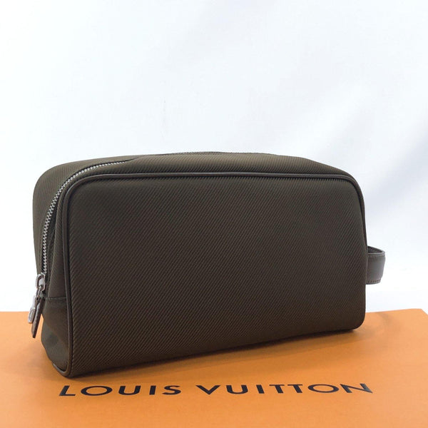 LOUIS VUITTON business bag M30758 Parana Taiga/leather khaki mens Used