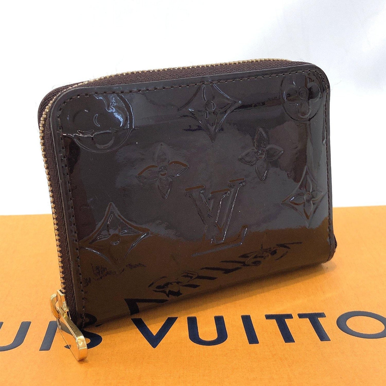 LOUIS VUITTON coin purse M93607 zip around purse Monogram Vernis purple Women Used - JP-BRANDS.com