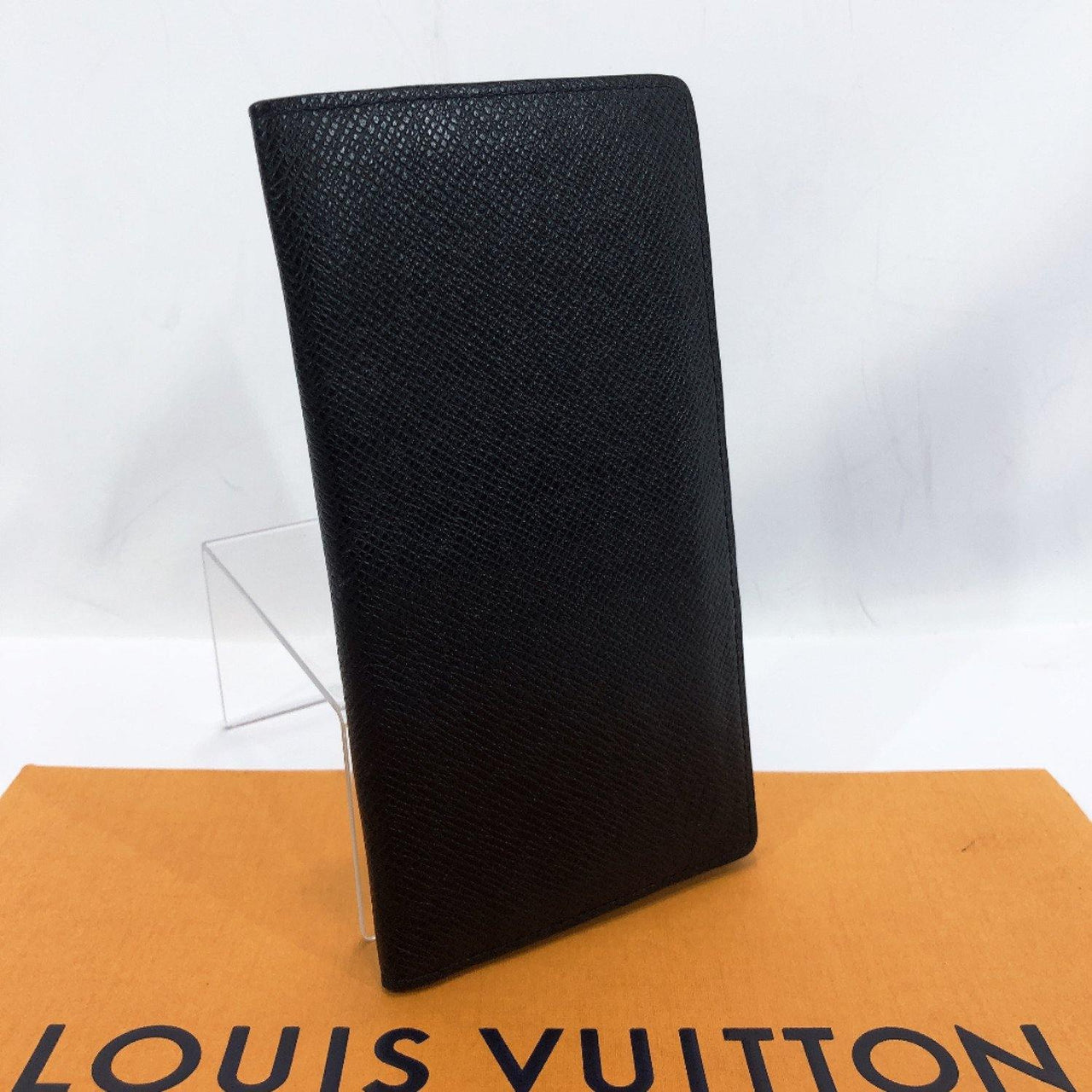 LOUIS VUITTON purse N32607 Portefeiulle Ron Bill Compartment Taiga black mens Used