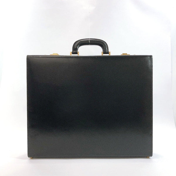 BALLY Business bag Attache case Dial lock leather black Gold Hardware mens Used