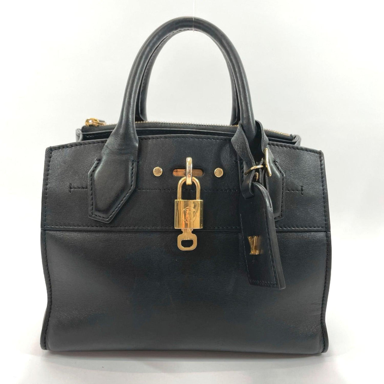 LOUIS VUITTON Handbag M51028 City Steamer PM Calfskin black Women Used