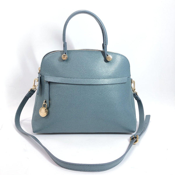 Furla Handbag Piper 2way leather blue Women Used