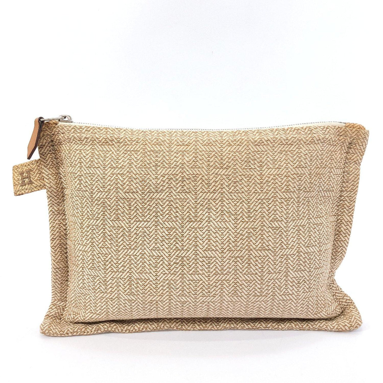 HERMES Pouch hemp/cotton beige Women Used - JP-BRANDS.com