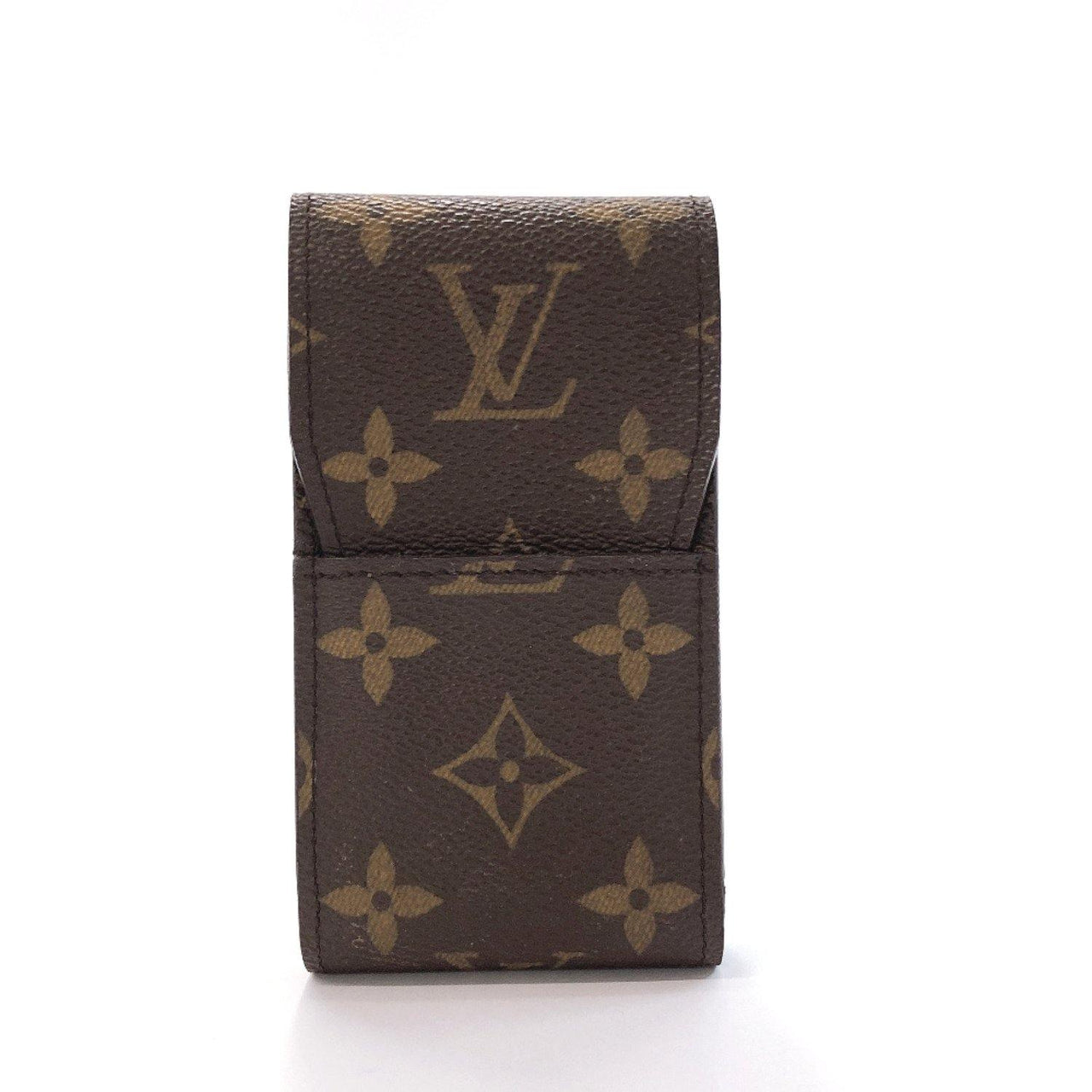 LOUIS VUITTON Other accessories M63024 Etui cigarette Cigarette case Monogram canvas Brown unisex Used - JP-BRANDS.com