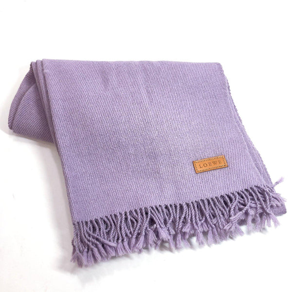 LOEWE Scarf wool purple Women Used