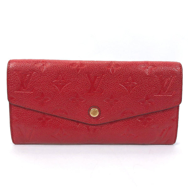 LOUIS VUITTON wallet M60732 Portefeiulle culyuse Monogram unplant Red Women Used