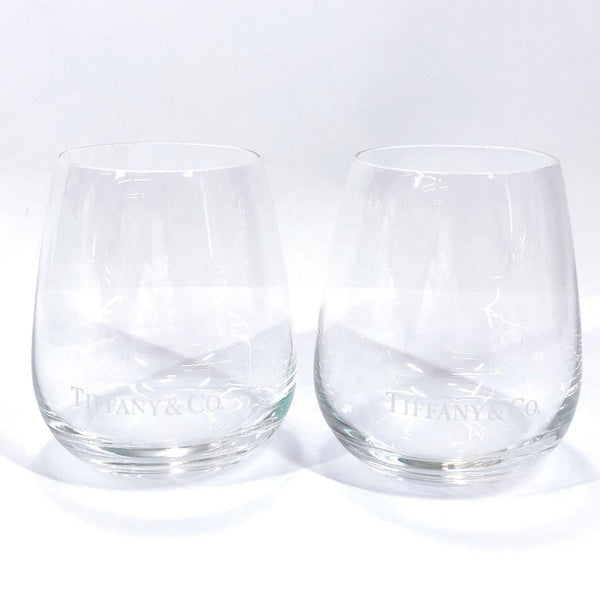 TIFFANY&Co. glass Pair glass tumbler Glass clear unisex Used