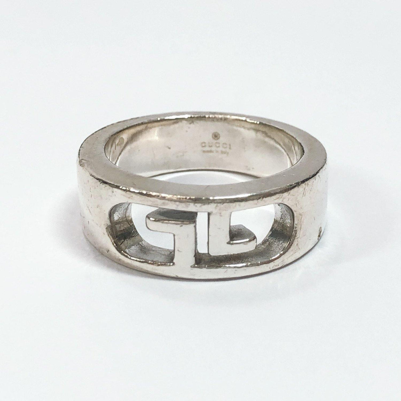 GUCCI Ring Double G Silver925/925 16 Silver mens Used - JP-BRANDS.com