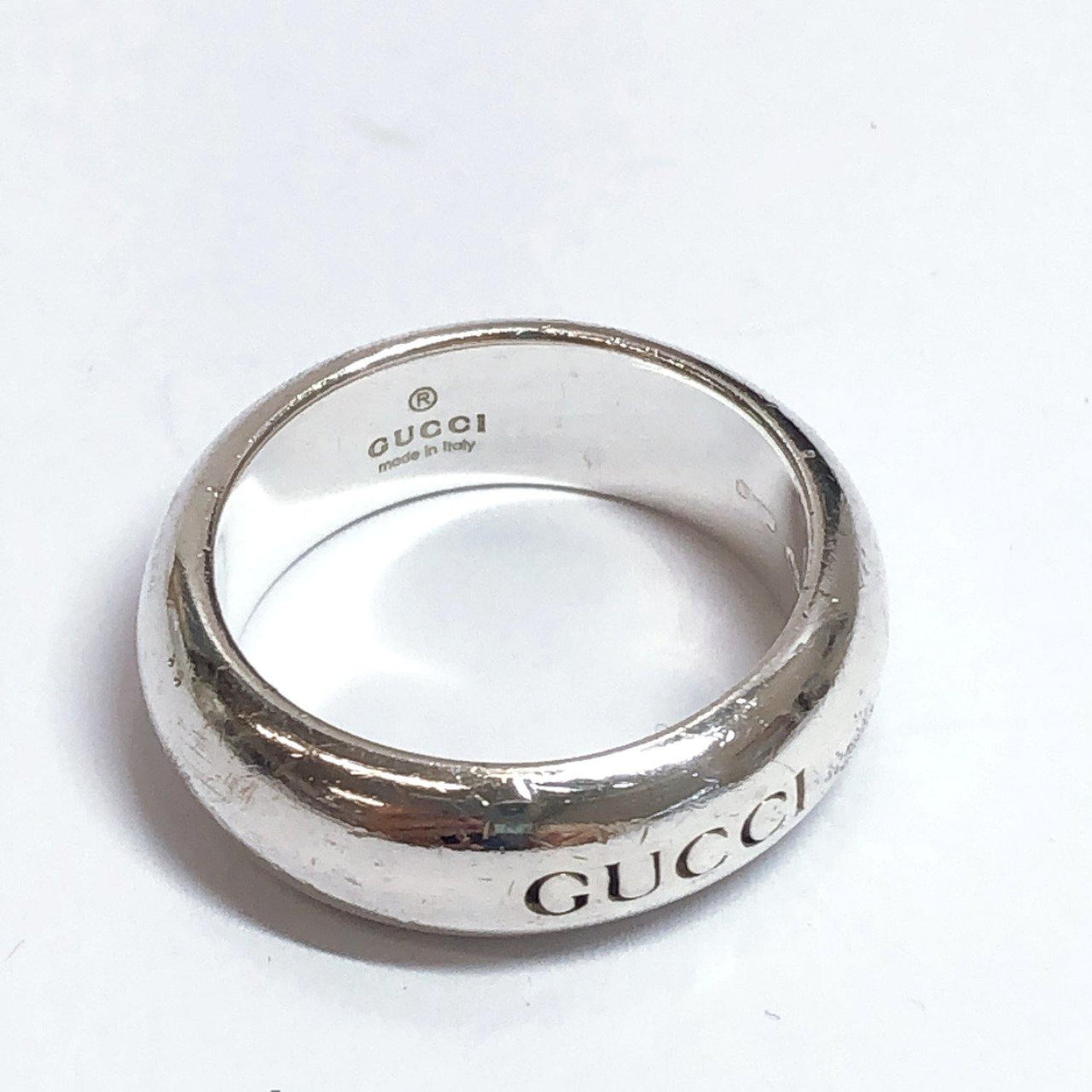 GUCCI Ring logo Silver925 9 Silver Women Used - JP-BRANDS.com