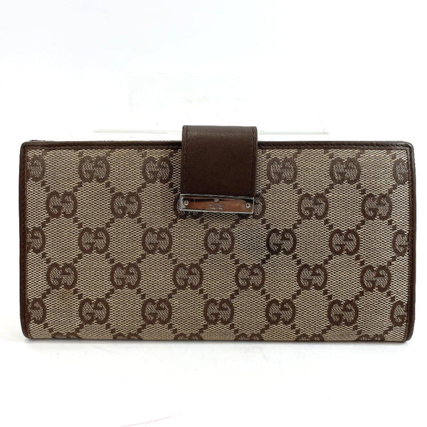 GUCCI purse GG canvas/leather Brown Women Used